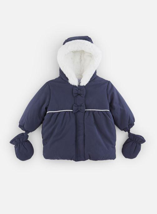 Vêtements Absorba Manteau à Capuche Marine doublé polaire Bleu vue détail/paire