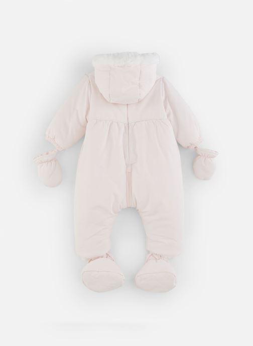 Vêtements Absorba Combi Pilote rose à capuche - Doublée Polaire Rose vue bas / vue portée sac