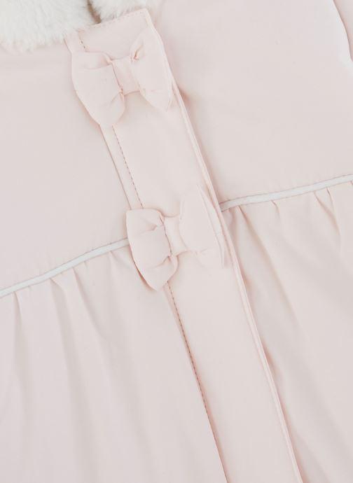 Vêtements Absorba Combi Pilote rose à capuche - Doublée Polaire Rose vue portées chaussures
