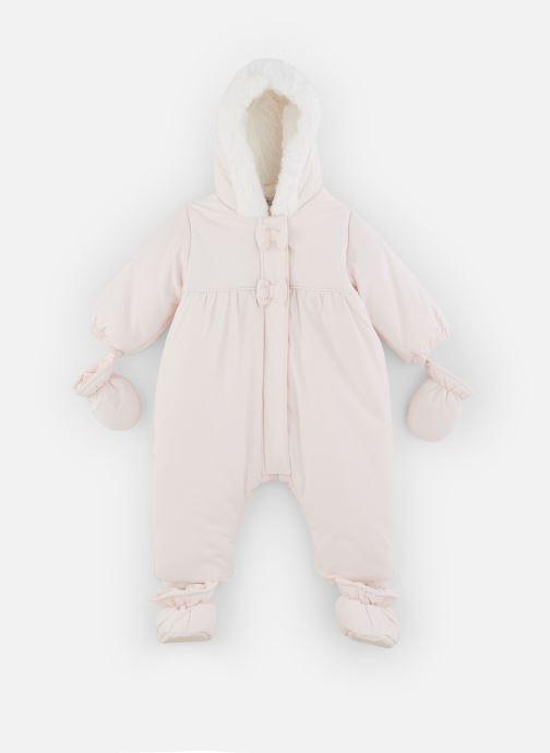 Vêtements Absorba Combi Pilote rose à capuche - Doublée Polaire Rose vue détail/paire
