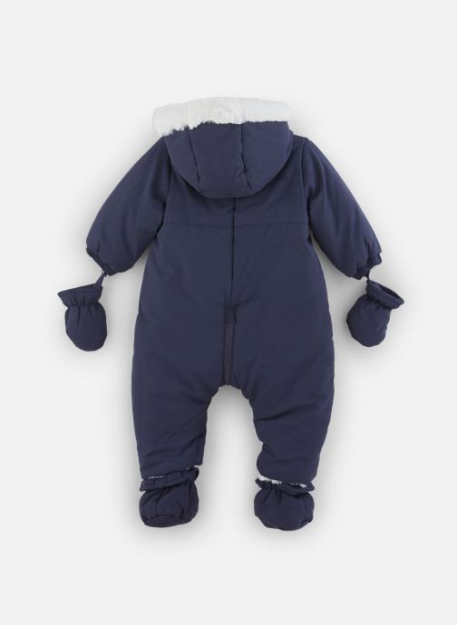 Vêtements Absorba Combi Pilote marine à capuche - Doublée Polaire Bleu vue bas / vue portée sac