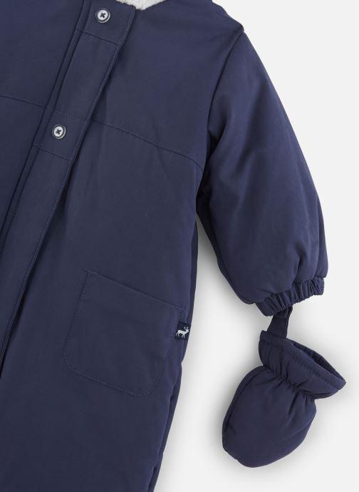 Vêtements Absorba Combi Pilote marine à capuche - Doublée Polaire Bleu vue portées chaussures