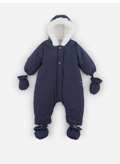Vêtements Absorba Combi Pilote marine à capuche - Doublée Polaire Bleu vue détail/paire