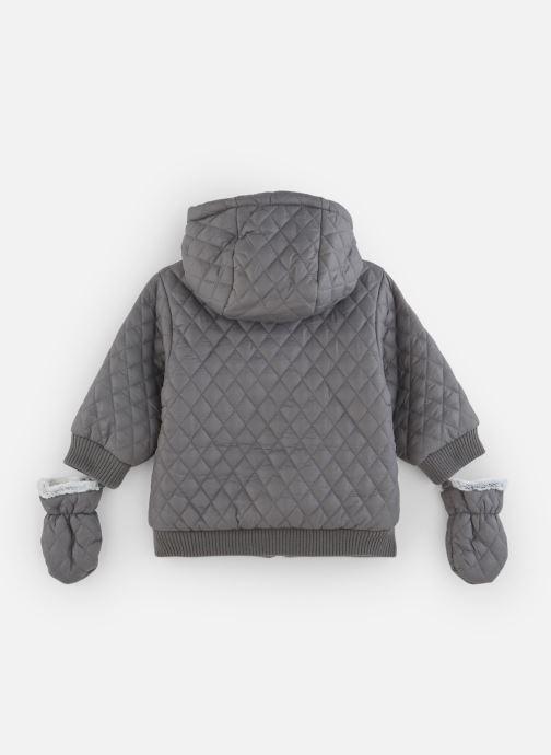 Vêtements Absorba Manteau à Capuche Gris doublé polaire Marron vue bas / vue portée sac