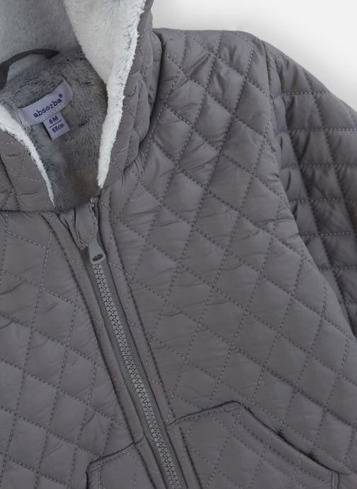 Vêtements Absorba Manteau à Capuche Gris doublé polaire Marron vue portées chaussures