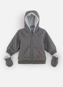 Manteau court - Manteau à Capuche Gris doublé pola