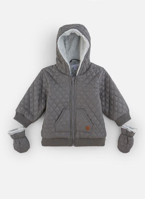 Vêtements Absorba Manteau à Capuche Gris doublé polaire Marron vue détail/paire
