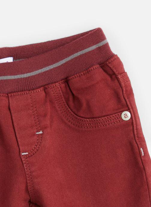 Vêtements Absorba Pantalon Aubergine Stretch - Taille élastiquée Rouge vue portées chaussures