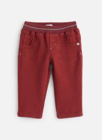 Pantalon Aubergine Stretch - Taille élastiquée