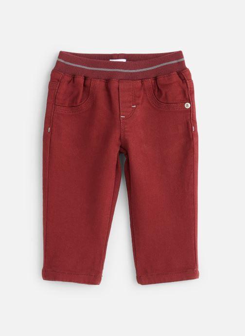Vêtements Absorba Pantalon Aubergine Stretch - Taille élastiquée Rouge vue détail/paire