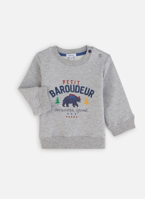 Vêtements Absorba Sweat Molleton Baroudeur Gris vue détail/paire