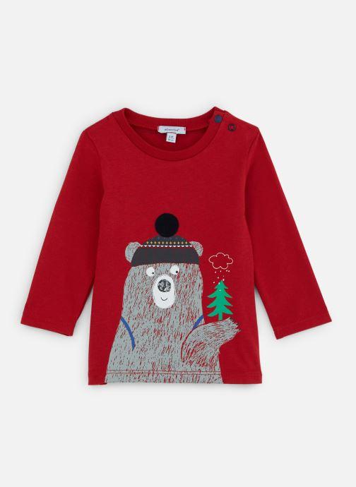 Vêtements Absorba T-shirt Ours Jersey manches longues Rouge vue détail/paire