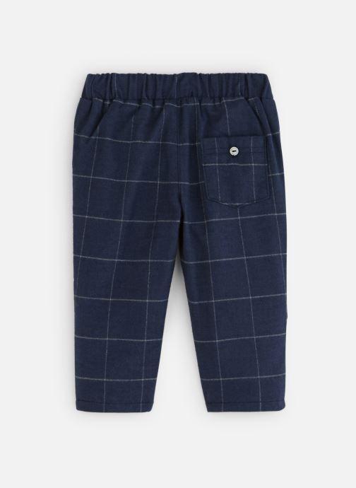 Vêtements Absorba Pantalon Flanelle marine à carreaux Bleu vue bas / vue portée sac