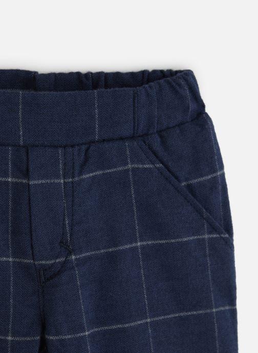 Vêtements Absorba Pantalon Flanelle marine à carreaux Bleu vue portées chaussures