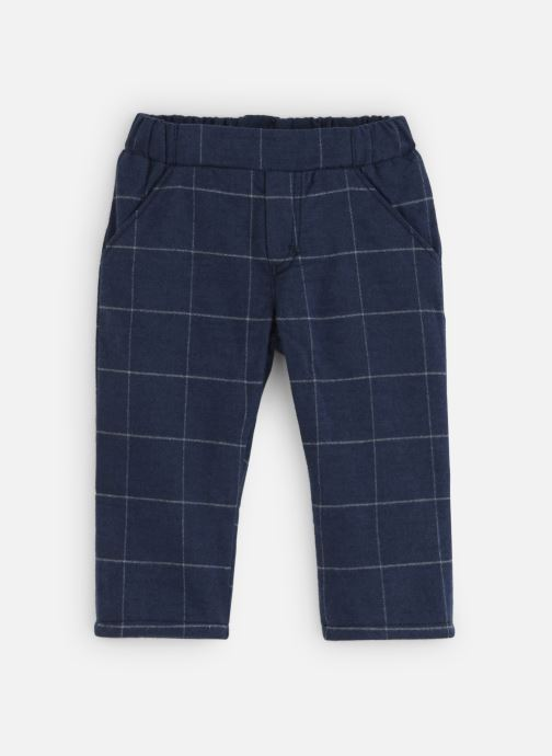 Vêtements Absorba Pantalon Flanelle marine à carreaux Bleu vue détail/paire