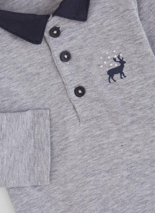 Vêtements Absorba Polo Coton Gris Motif Cerf Gris vue portées chaussures