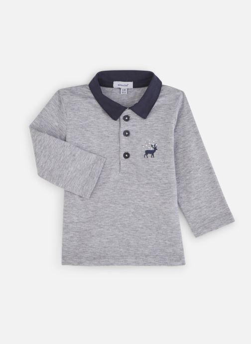 Vêtements Absorba Polo Coton Gris Motif Cerf Gris vue détail/paire