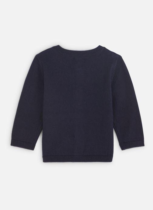 Vêtements Absorba Cardigan Tricot Marine - Motif Jacquard Bleu vue bas / vue portée sac