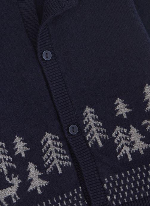 Vêtements Absorba Cardigan Tricot Marine - Motif Jacquard Bleu vue portées chaussures