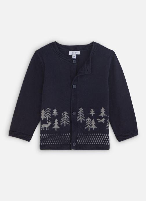 Vêtements Absorba Cardigan Tricot Marine - Motif Jacquard Bleu vue détail/paire