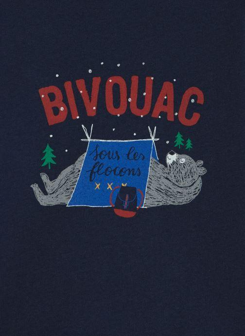 """Vêtements Absorba T-Shirt Ours """"Bivouac"""" - Jersey Bleu vue portées chaussures"""