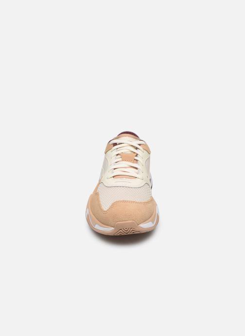Sneaker Puma Storm Origin W beige schuhe getragen
