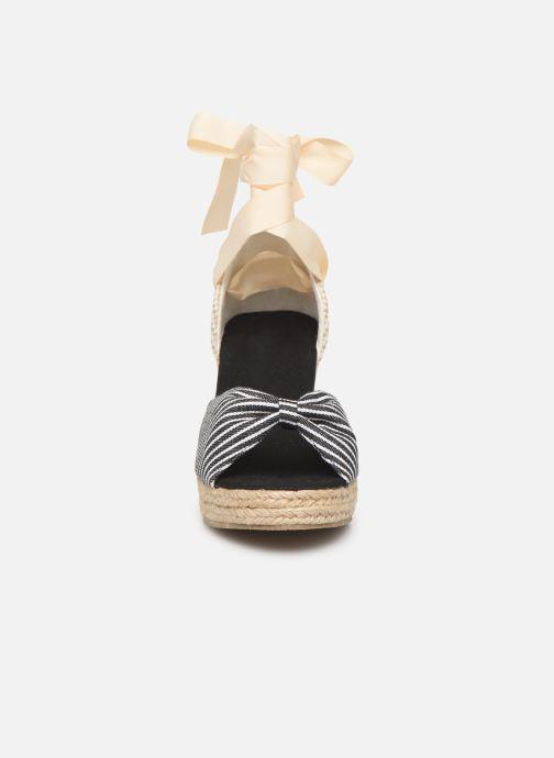 Scarpe di corda Vero Moda Vmnicole Wedge Sandal Nero modello indossato
