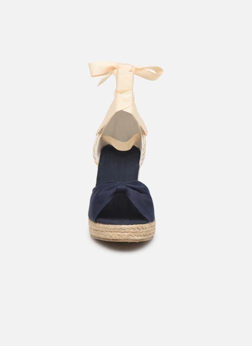 Espadrilles Vero Moda Vmnicole Wedge Sandal Bleu vue portées chaussures