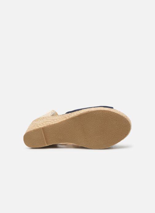 Espadrilles Vero Moda Vmnicole Wedge Sandal Bleu vue haut