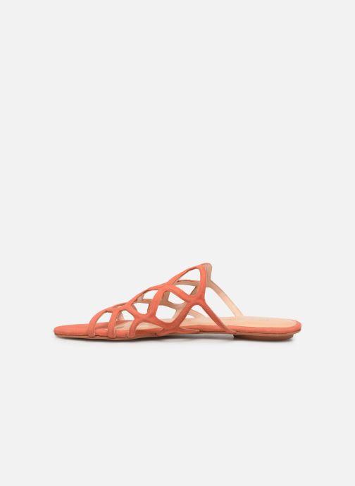 Zuecos Vero Moda Vmalyssa Leather Sandal Naranja vista de frente