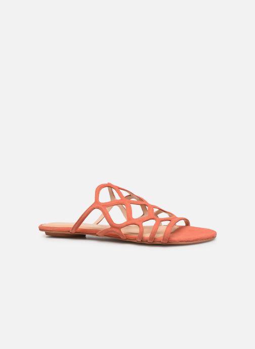 Zuecos Vero Moda Vmalyssa Leather Sandal Naranja vistra trasera