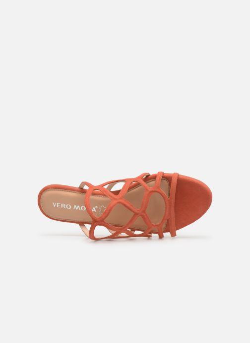 Zuecos Vero Moda Vmalyssa Leather Sandal Naranja vista lateral izquierda