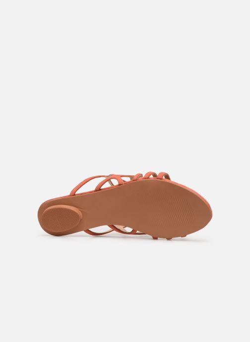 Zuecos Vero Moda Vmalyssa Leather Sandal Naranja vista de arriba