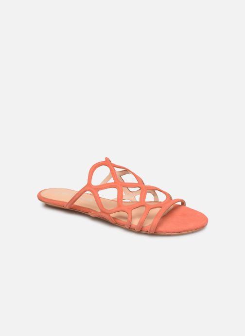 Zuecos Vero Moda Vmalyssa Leather Sandal Naranja vista de detalle / par