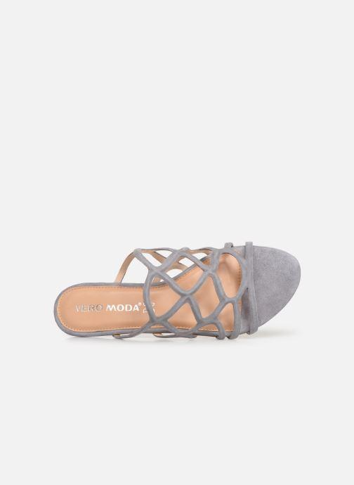 Zoccoli Vero Moda Vmalyssa Leather Sandal Grigio immagine sinistra