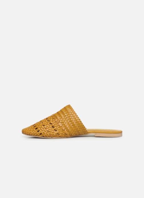 Zuecos Vero Moda Vmgaura Leather Mule Amarillo vista de frente