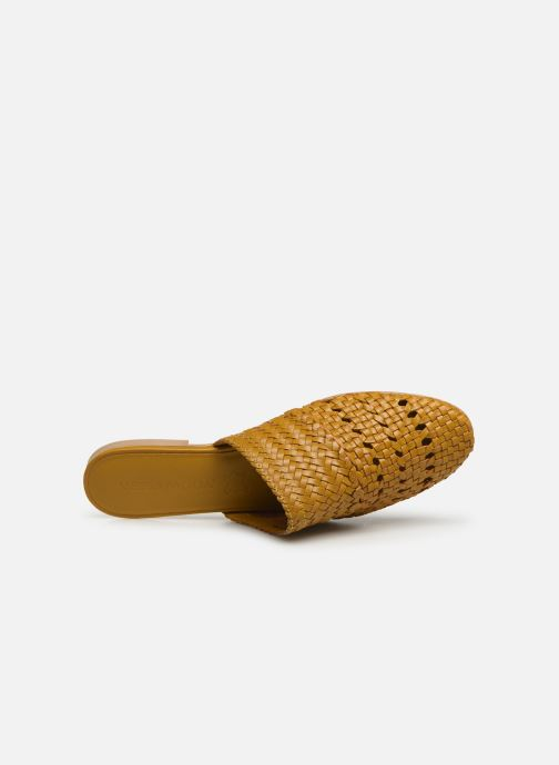 Zoccoli Vero Moda Vmgaura Leather Mule Giallo immagine sinistra