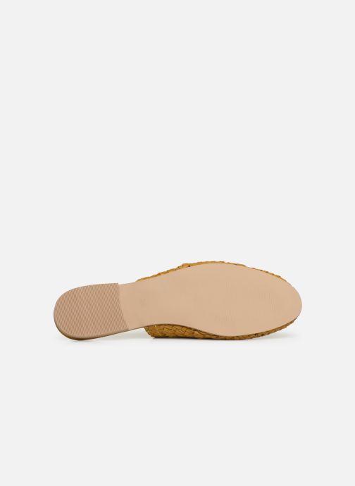 Zoccoli Vero Moda Vmgaura Leather Mule Giallo immagine dall'alto