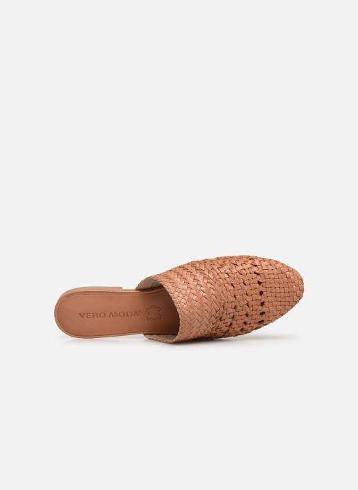 Wedges Vero Moda Vmgaura Leather Mule Roze links