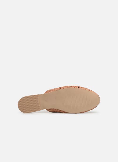 Wedges Vero Moda Vmgaura Leather Mule Roze boven
