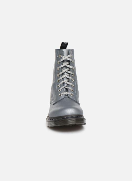 Bottines et boots Dr. Martens 1460 Pascal Metallic Argent vue portées chaussures