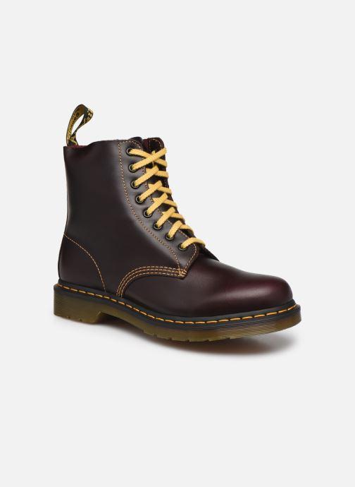 Ankelstøvler Dr. Martens 1460 Pascal Bordeaux detaljeret billede af skoene