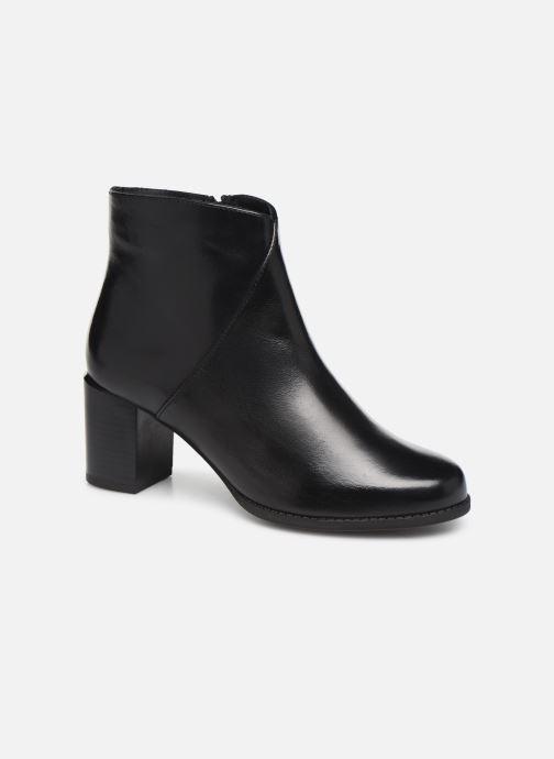 Ankelstøvler Georgia Rose Riglos Soft Sort detaljeret billede af skoene