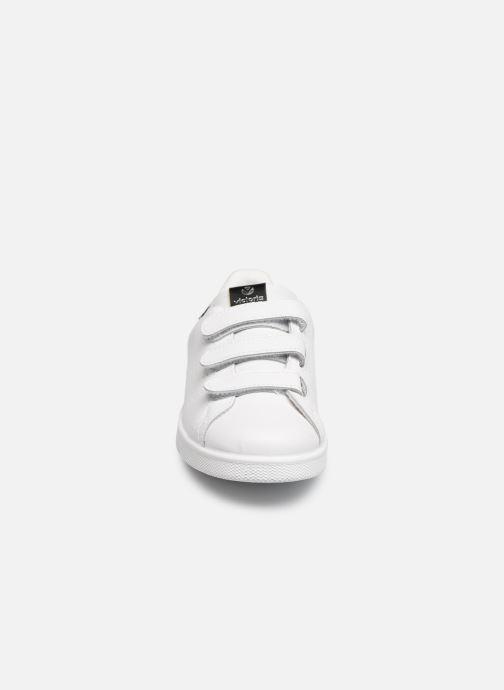 Sneakers Victoria Deportivo Velcros Animal Print Bianco modello indossato