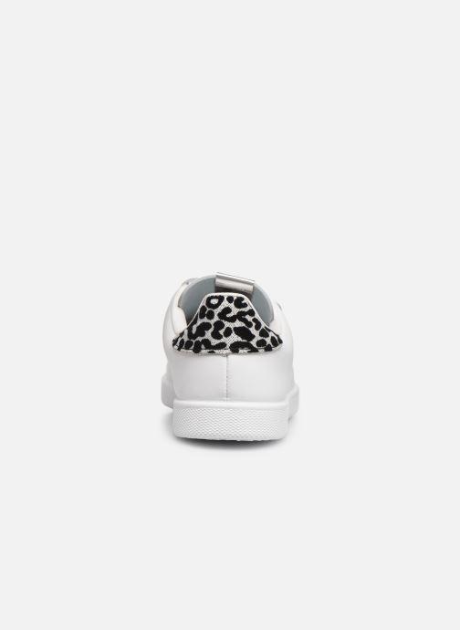 Baskets Victoria Deportivo Velcros Animal Print Blanc vue droite