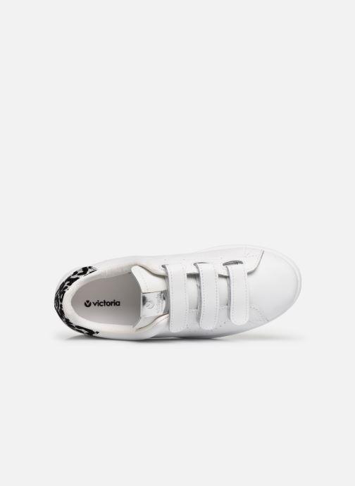 Sneakers Victoria Deportivo Velcros Animal Print Bianco immagine sinistra