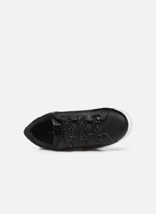 Baskets Victoria Deportivo Velcros Glitter Noir vue gauche
