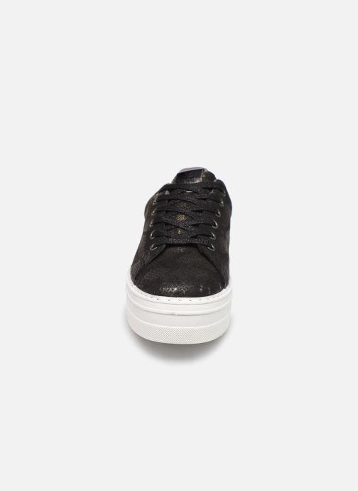 Baskets Victoria Barcelona Deportivo Noir vue portées chaussures
