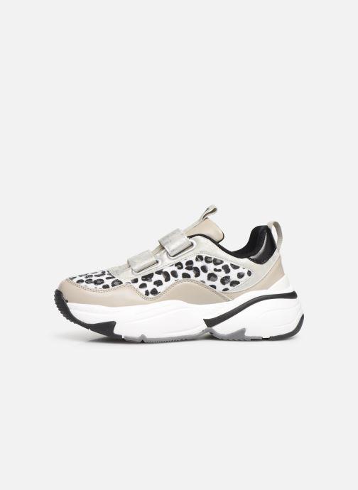 Sneakers Victoria Aire Velcros Animal Print Grijs voorkant
