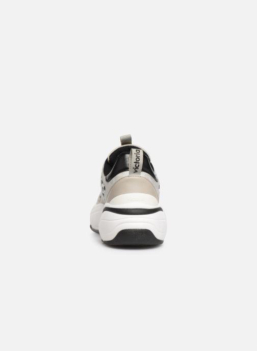 Baskets Victoria Aire Velcros Animal Print Gris vue droite